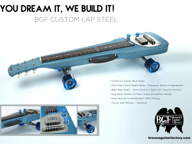 Tucker Skateboard Cali Ocean Blue Flake Lap Steel